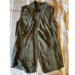 Sanctuary Open Front Green Vest